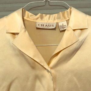 NWT Chaus 100% silk dress blouse size 6 petite